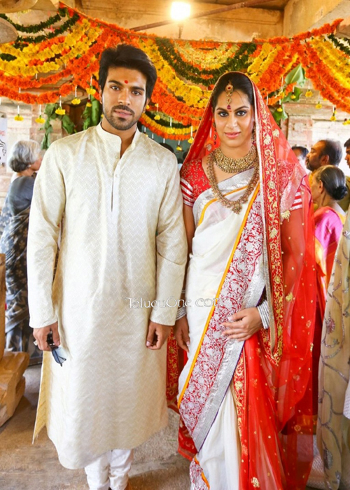 Ram Charan Upasana Wedding Dress By Tarun Tahiliani Ram
