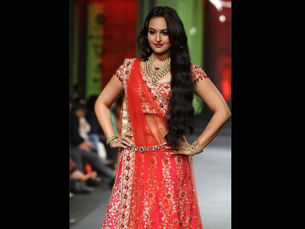 Red Is The Traditional Colour For A Bride Sonakshi Sinha Wears Bridal Outfit In Contemporary Style
