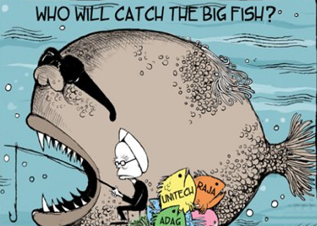 Who will catch the big fish man mohan singh cartoon for Catching the big fish