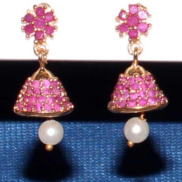 One Gram Jewellery Jhumkas Small Ruby Jhumka A Pair