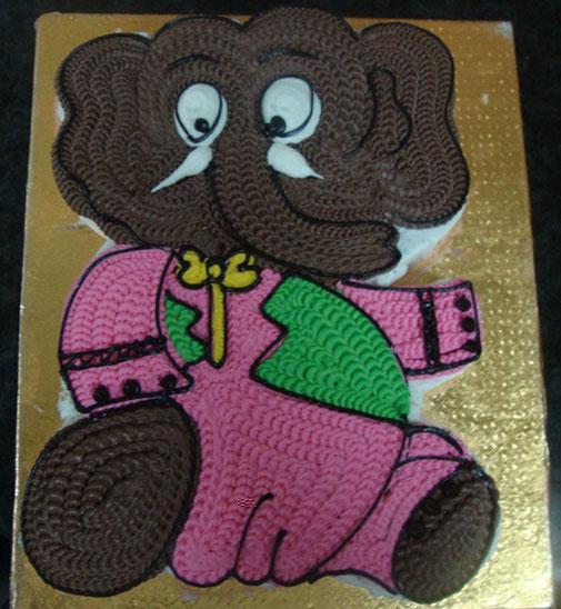 Appu Cake Send This 4kg Cute Appu Elephant Cake To Your De