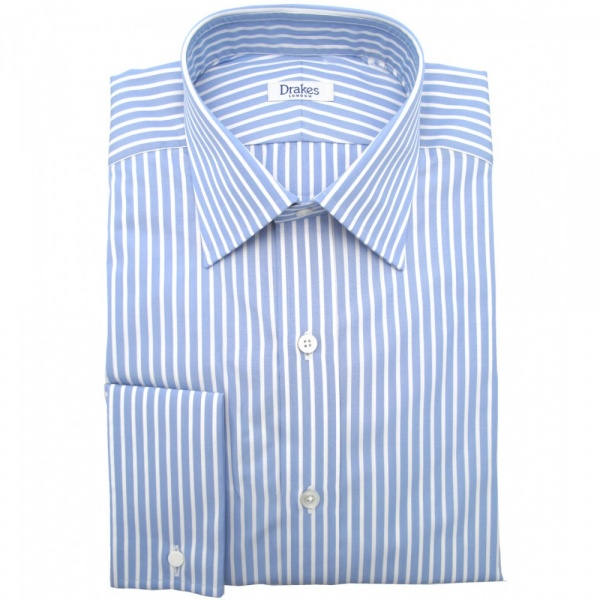 114f52350b Blue-lines-shirt | Blue-and-White-lines--Branded-Formal-Full-sleeves-