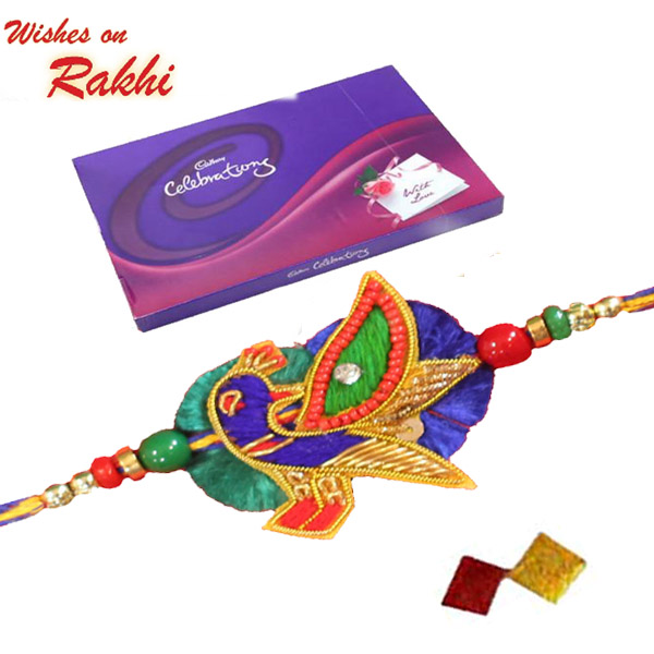Rakhi Combo 8 Designer Peacock Rakhi 2 Celebration