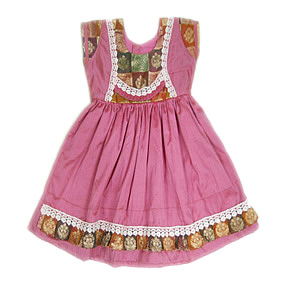 Pattu Parikinis Designer Frocks Baby Cotton Silk Frock