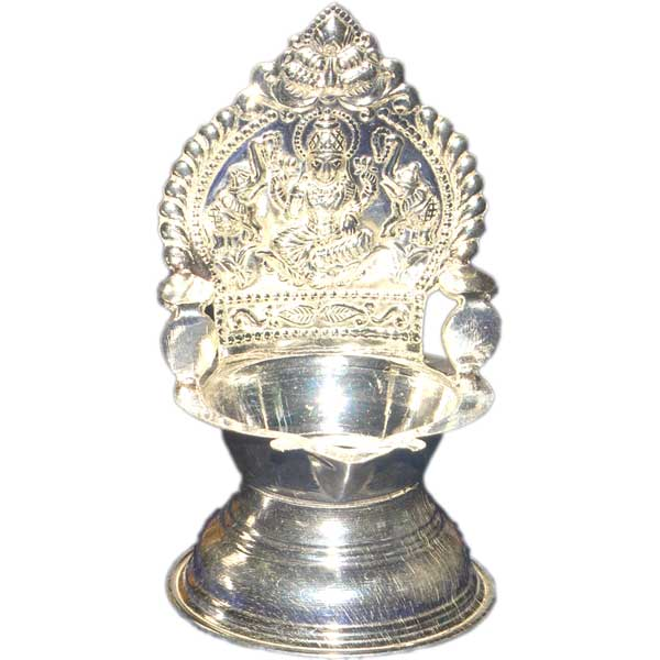 Silver Store Pooja Items Kamakshi Deepam 50 Grams