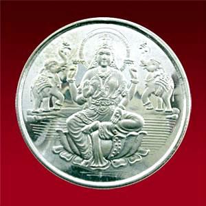 Goddess Lakshmi Silver Coin 100 Gms Goddess Lakshmi