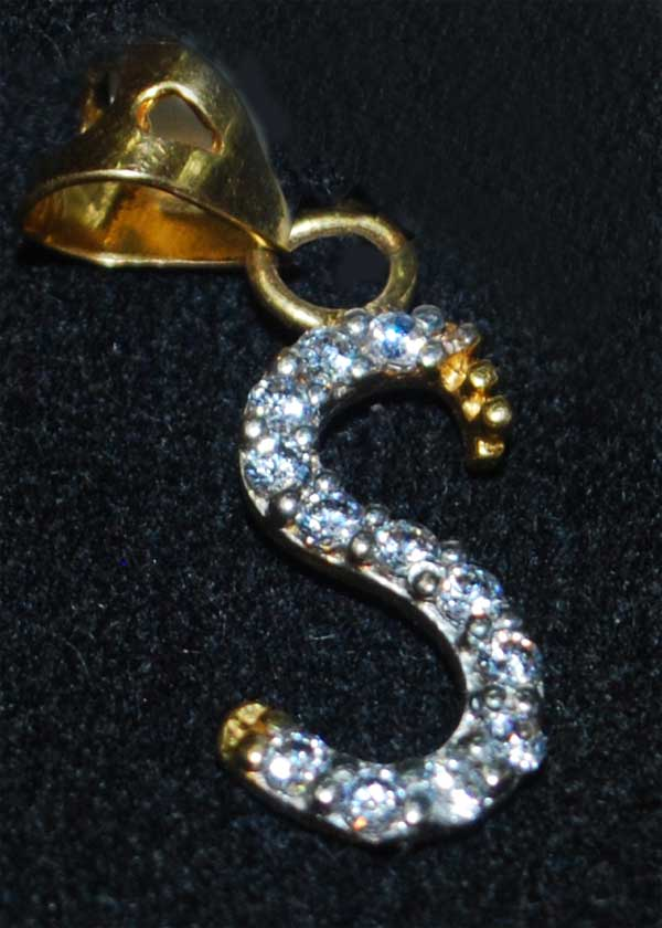 S Locket Code 145414 Quot Gold S Letter Locket Studed