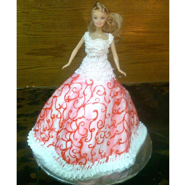 Meroon Frock Barbie Cake 113 Stun Them In A Sensational Way By