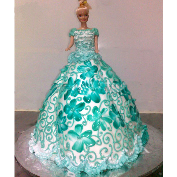 Hyderabad Special Cakes Barbie Doll Cakes Meroon Frock Barbie