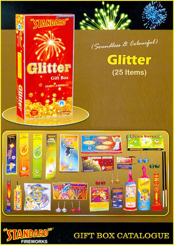 GLITTER-BOX-25-Items-Standard-Fireworks   Diwali-Crackers ...