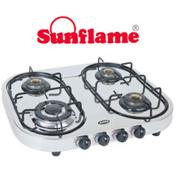 how to clean sunflame gas stove