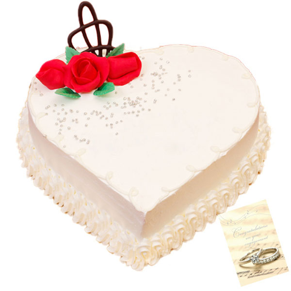 Heart Shape Vanilla Cake A Delicious And Mouth Watering