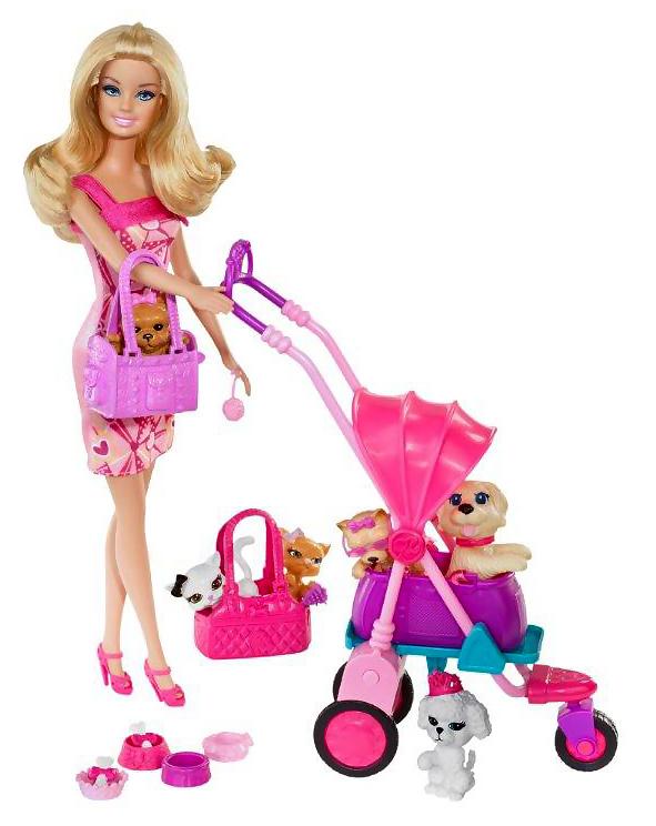 Kids Corner Barbie Dolls Brb Pets Are Fun X3226