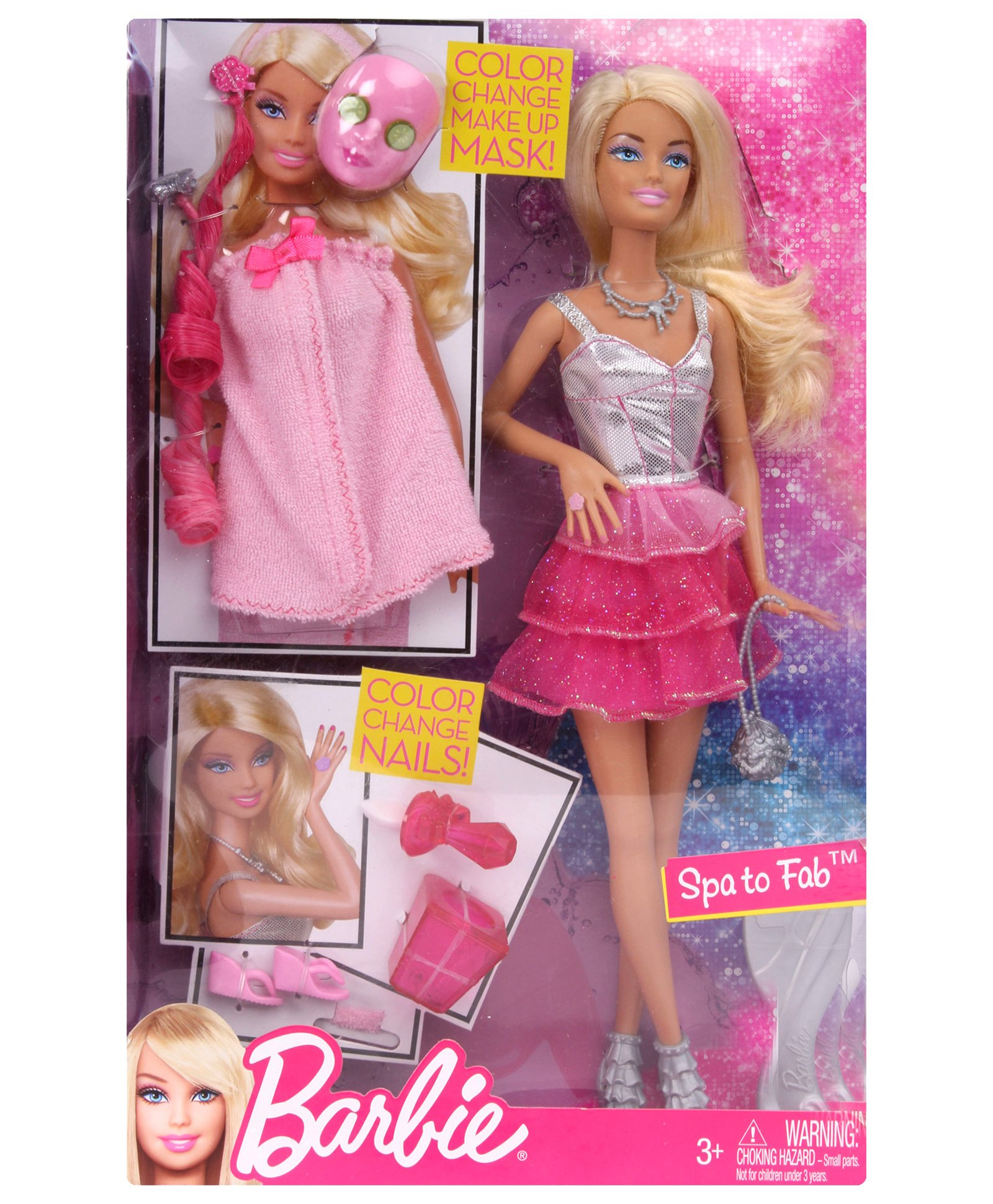 Brb Spa To Fab X7891 Fun Barbie Dolls For Your Children