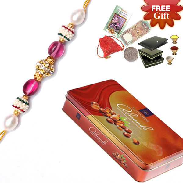 Priceless Almond Chocolate Gift With Rakhi