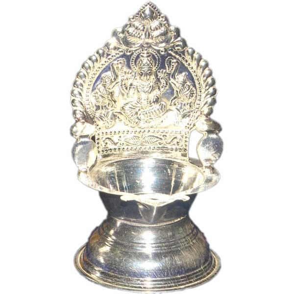 Silver Store Pooja Items Kamakshi Deepam 25 Grams
