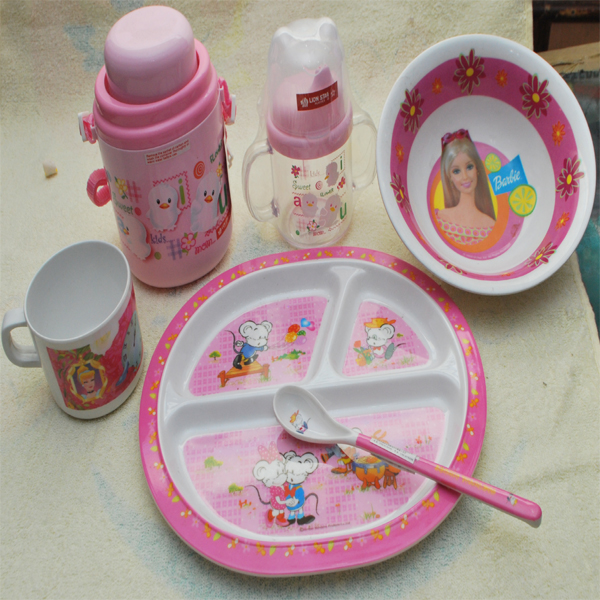 & Barbie-Feeding-set | Contains--platespoonmugwater-bottle-and-feeding
