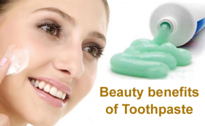 Beauty benefits of Toothpaste