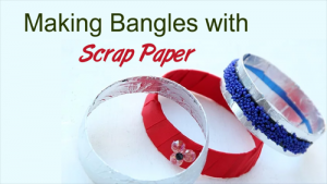 Making Bangles with Scrap Paper
